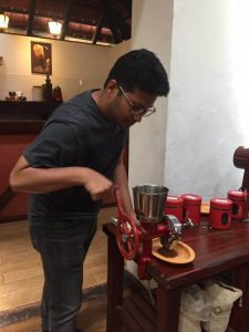 Coffee Grinding in a Coffee Tour